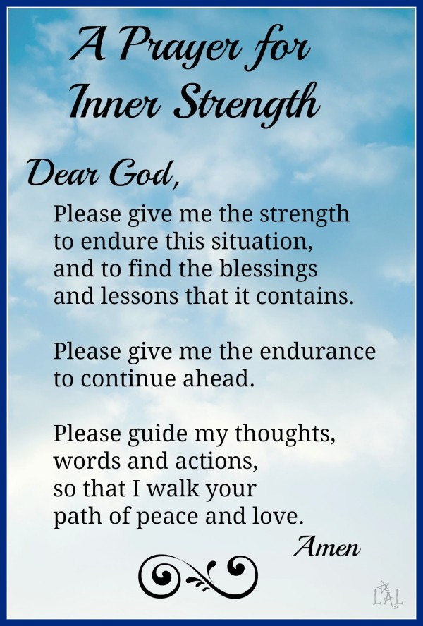 A prayer for inner strenth