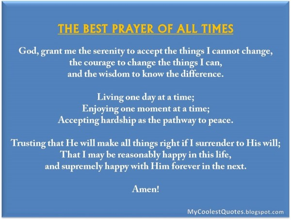 The best prayer of all times