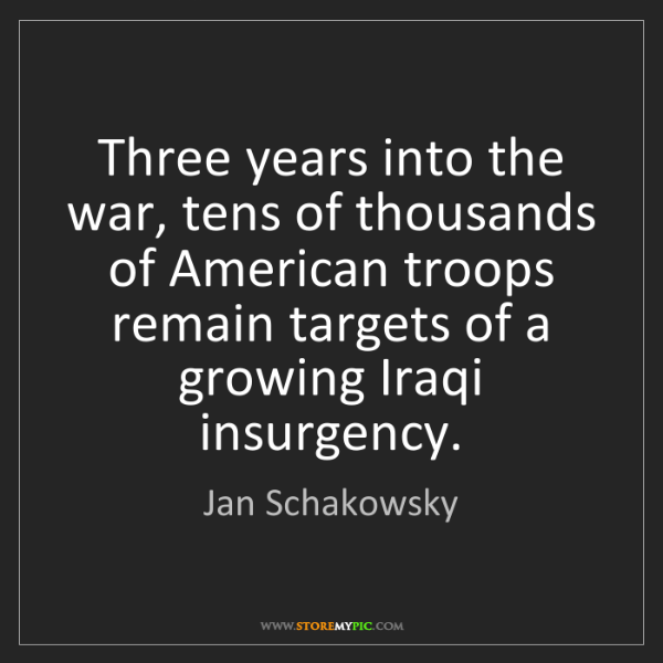 Jan Schakowsky: Three years into the war, tens of thousands of American...