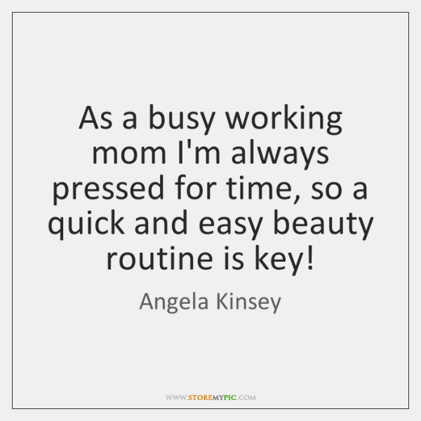 As a busy working mom I'm always pressed for time, so a ...
