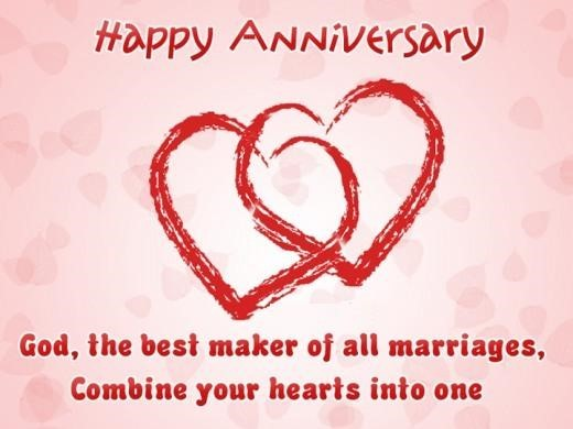 Happy anniversary god the best maker of all marriages