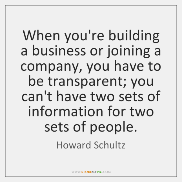 When you're building a business or joining a company, you have to ...
