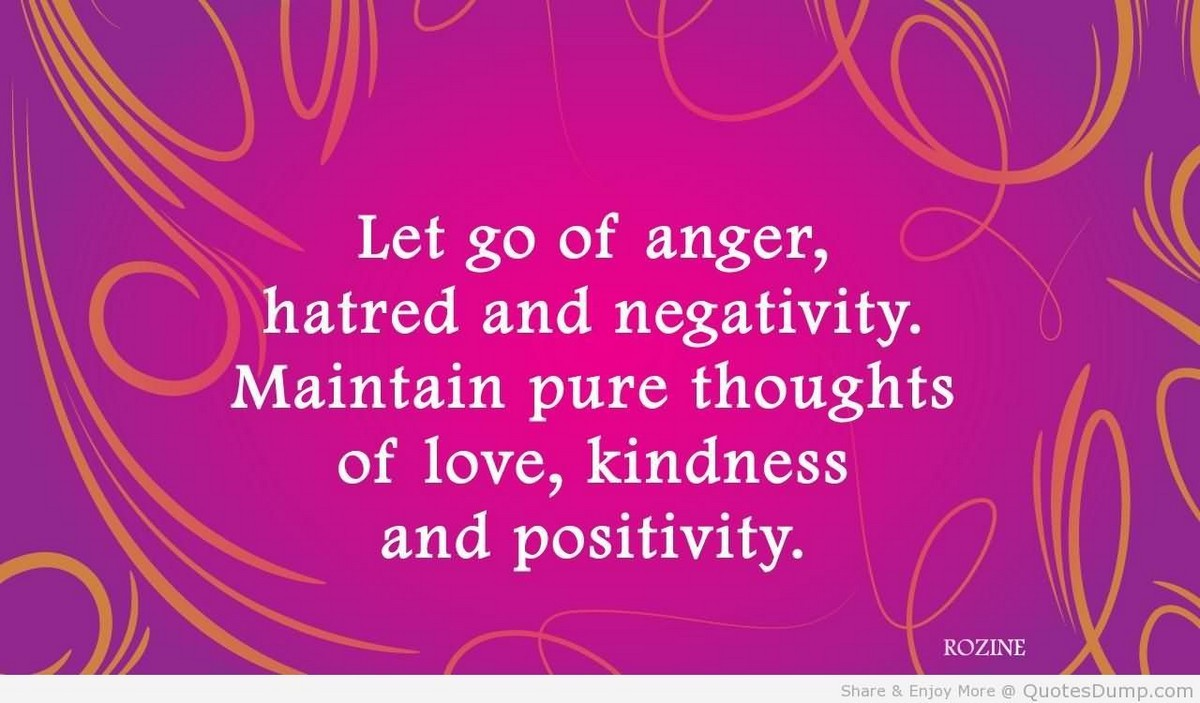 Let Go Of Anger Hatred And Negativity Storemypic