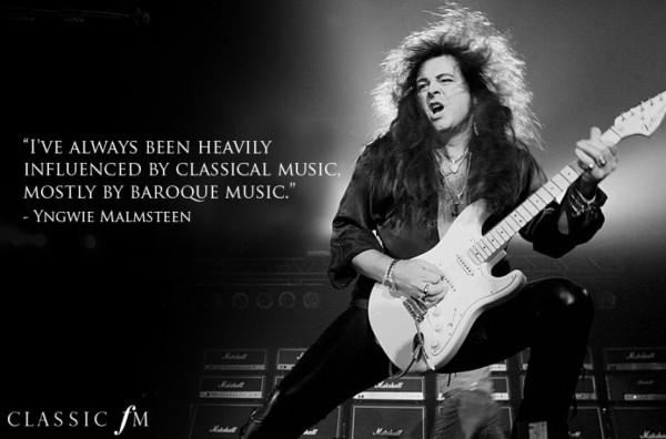Ive always been heavily influenced by classical music mostly by baroque music yngwie mal