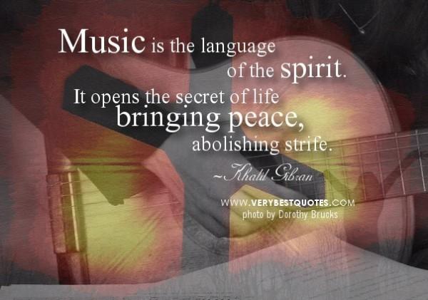 Music is the language of the spirit it opens the secret of life bringing peace abolishin