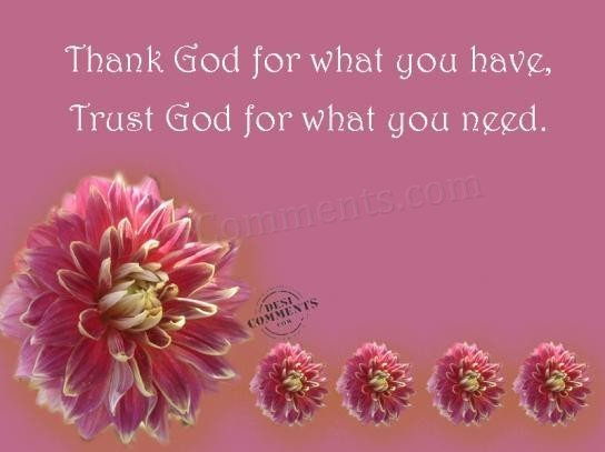 Thank God For What You Have Trust God For What You Need Storemypic