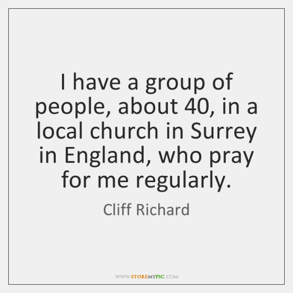 I have a group of people, about 40, in a local church in ...