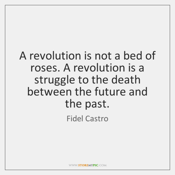 A revolution is not a bed of roses. A revolution is a ...