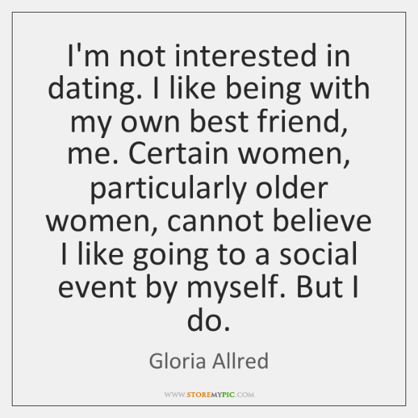 dating not interested