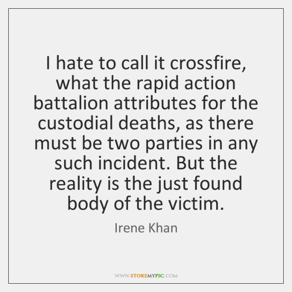 I hate to call it crossfire, what the rapid action battalion attributes ...