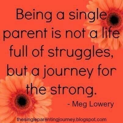 Being a single parent is not a life full of struggles but a journey for the strong meg