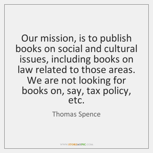 Our mission, is to publish books on social and cultural issues, including ...