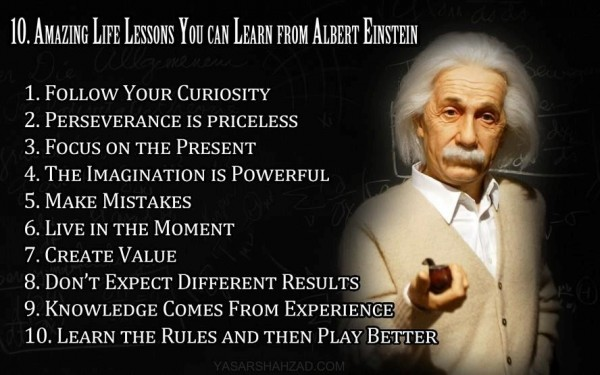Amazing life lessons you can learn from albert einstein