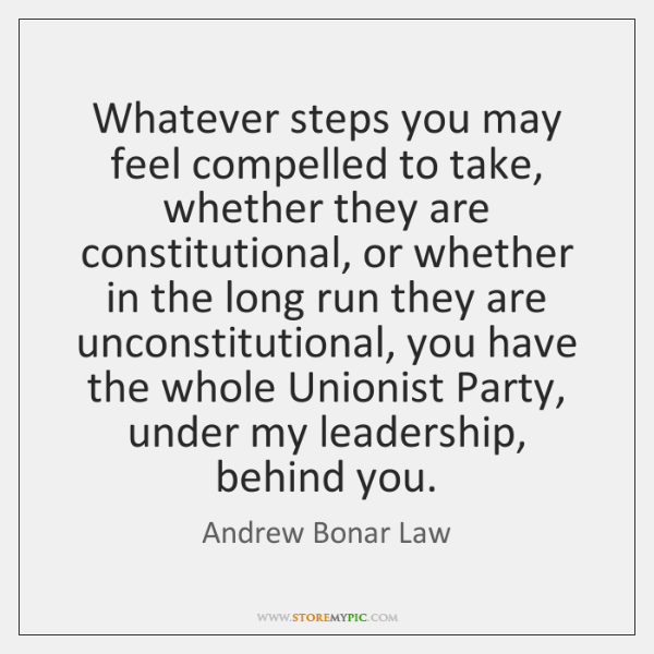Whatever steps you may feel compelled to take, whether they are constitutional, ...