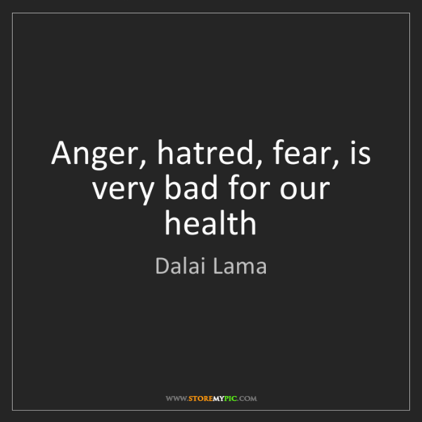 anger is bad for health