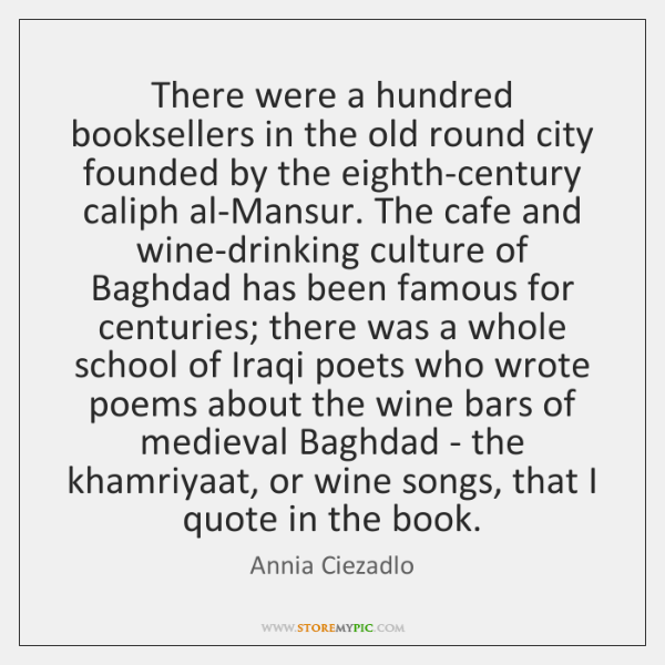 There were a hundred booksellers in the old round city founded by ...