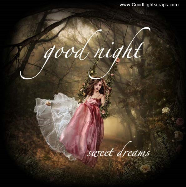 Beautiful girl wishes you good night sweet dream