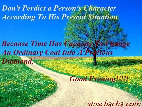 Because time has capacity for a change an ordinary coal into a precious diamond