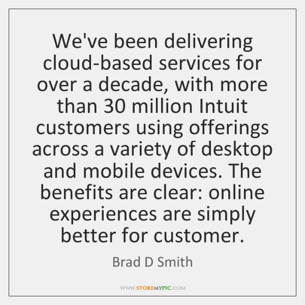 We've been delivering cloud-based services for over a decade, with more than 30 ...