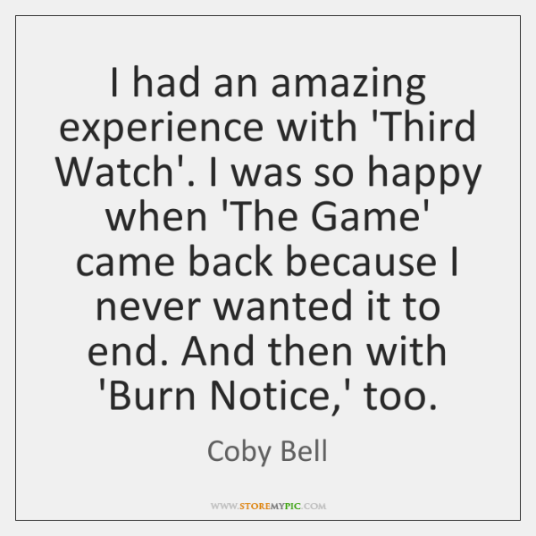 I had an amazing experience with 'Third Watch'. I was so happy ...
