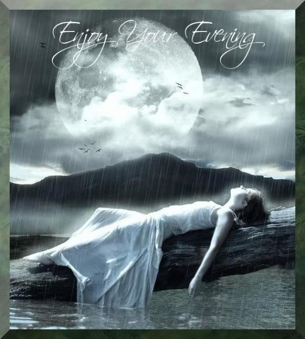 Enjoy your evening laying girl