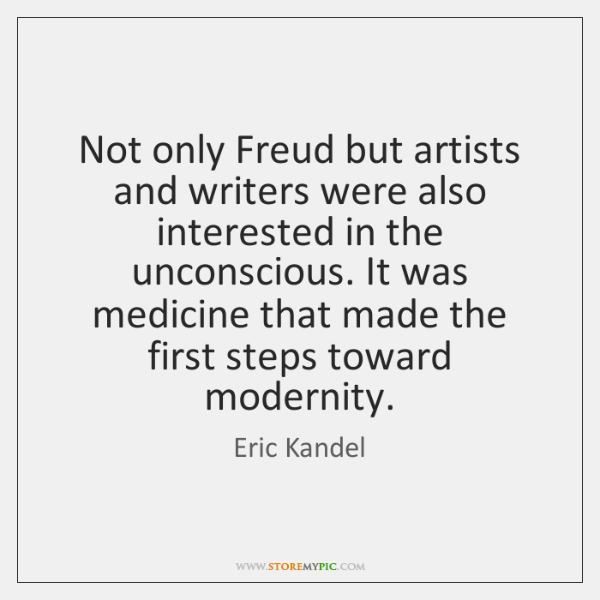 Not only Freud but artists and writers were also interested in the ...
