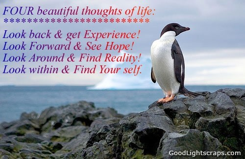 Four beautiful thoughts of life