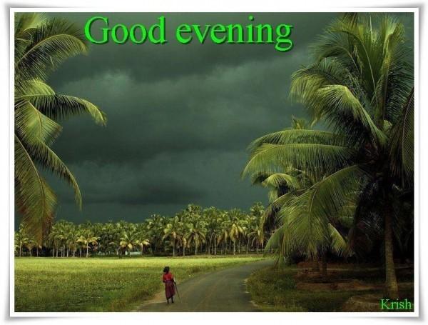 Good evening beautiful cloudy