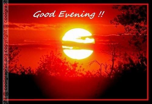 Good evening beautiful sunset