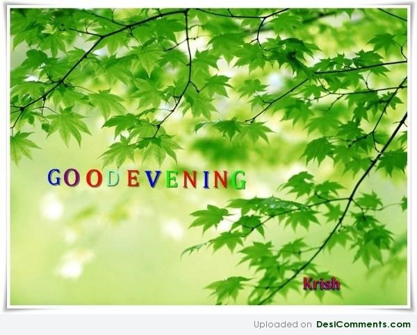 Good evening colorful font image