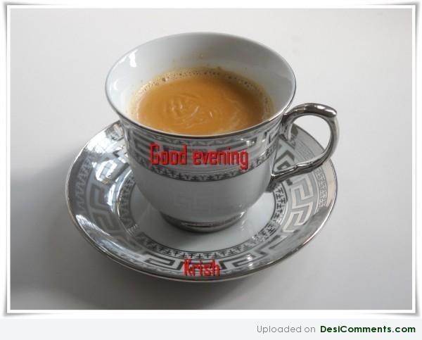 Good evening cup of tea image