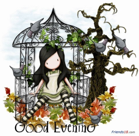 Good evening girl sitting in bird cage