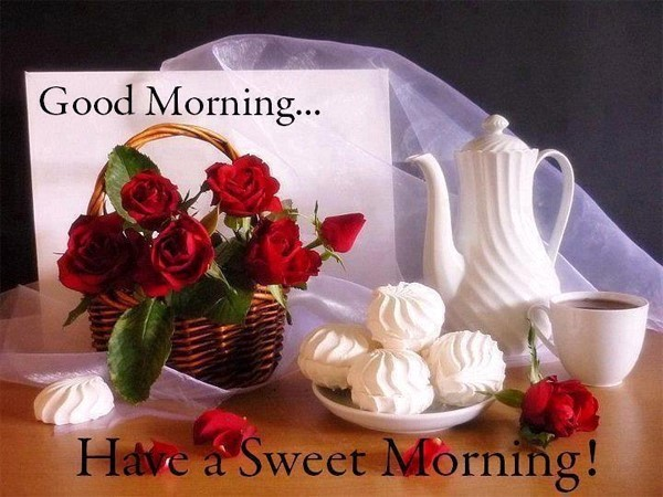 Good morning have a sweet morning