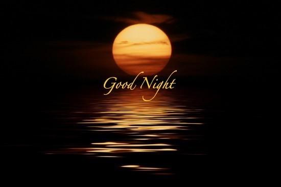 Good night beautiful sunset