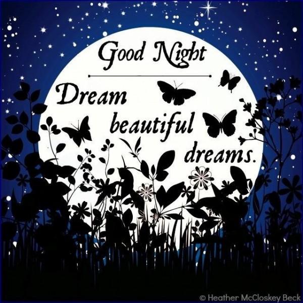 Good night dream beautiful dreams