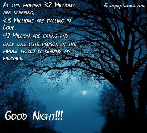 Good night message