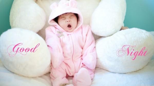 Good night yawning kid