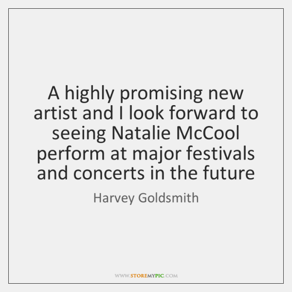 A highly promising new artist and I look forward to seeing Natalie ...