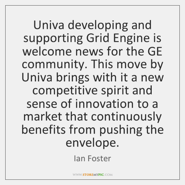 Univa developing and supporting Grid Engine is welcome news for the GE ...