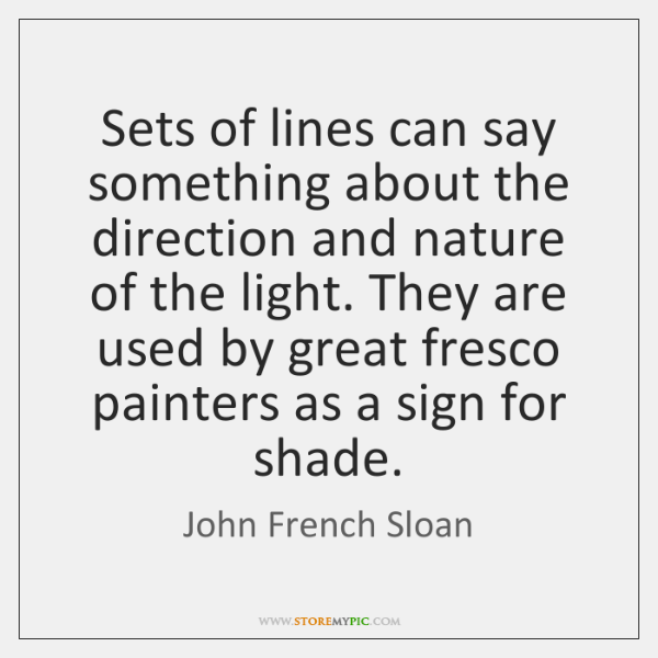 Sets of lines can say something about the direction and nature of ...