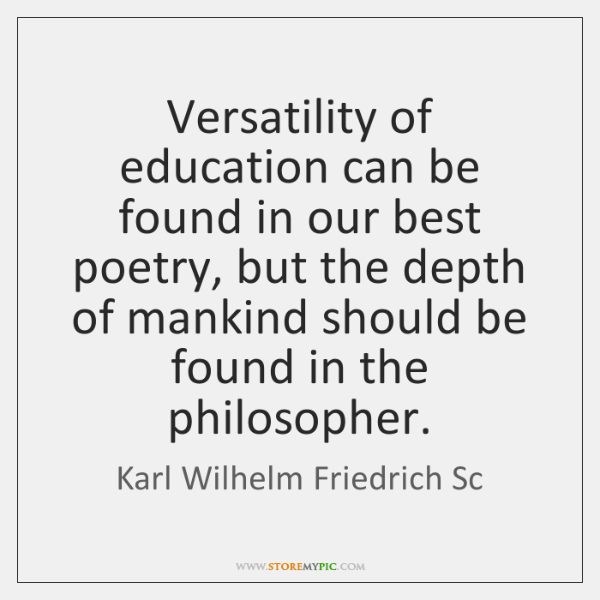Versatility of education can be found in our best poetry, but the ...