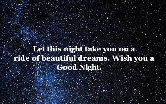 Let this night take you on a ride of beautiful dreams wish you a good night