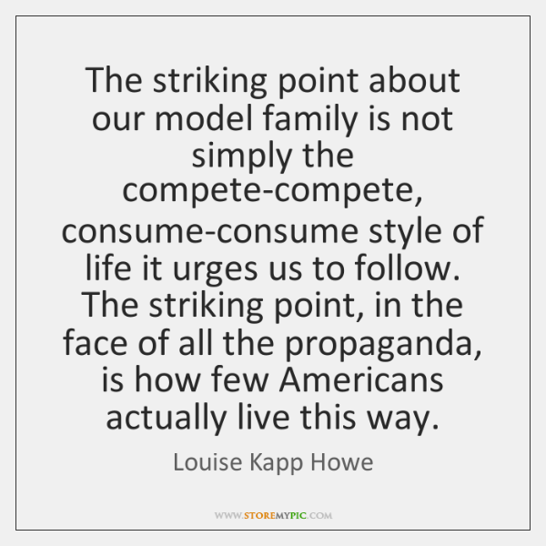 The striking point about our model family is not simply the compete-compete, ...
