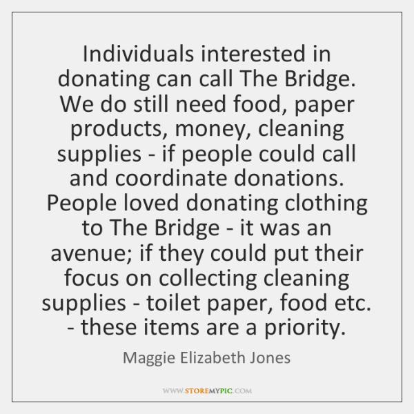 Maggie Elizabeth Jones Quotes StoreMyPic Inspiration Quotes About Donating