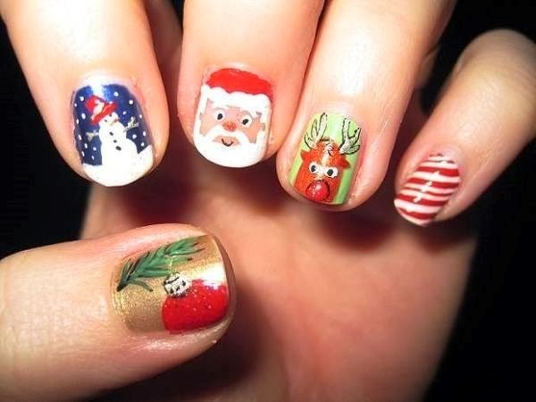 Nail art design for christmas