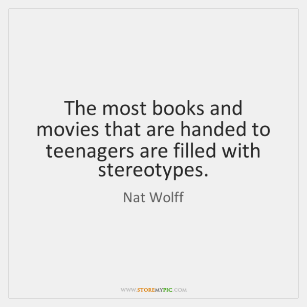 The most books and movies that are handed to teenagers are filled ...