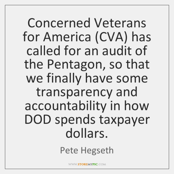 Concerned Veterans for America (CVA) has called for an audit of the ...