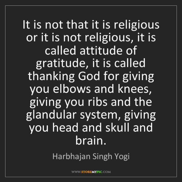Harbhajan Singh Yogi: It is not that it is religious or it is not religious,...