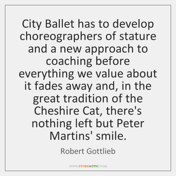 City Ballet has to develop choreographers of stature and a new approach ...