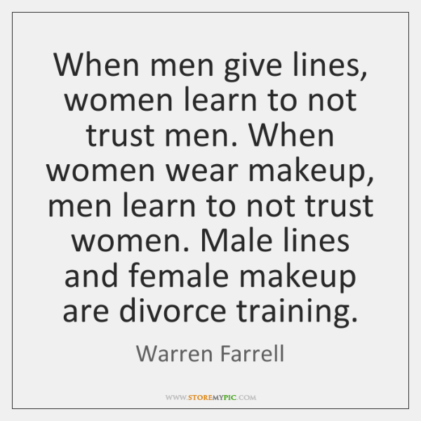 when a man trusts a woman